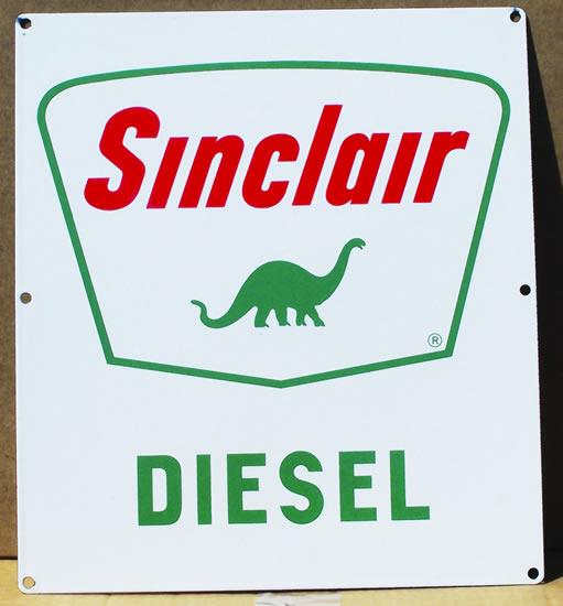 Sinclair Diesel plate