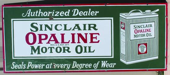 Sinclair Opaline sign