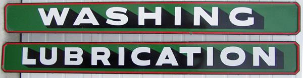 Washing Lubrication signs